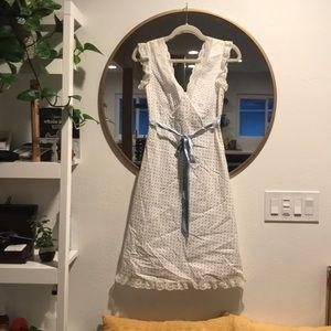 Betsy Johnson Dress Polk a Dot with Lace